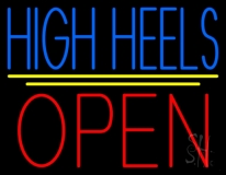High Heels Open With Line LED Neon Sign