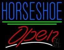 Horseshoe Open LED Neon Sign