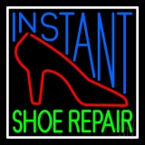 Instant Shoe Repair With Border LED Neon Sign