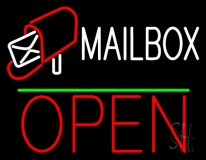 Mailbox Red Logo With Open 1 LED Neon Sign