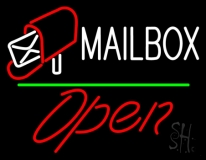 Mailbox Red Logo With Open 2 LED Neon Sign