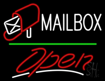 Mailbox Red Logo With Open 3 LED Neon Sign