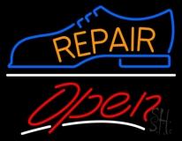 Orange Repair Shoe Logo Open LED Neon Sign