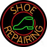 Orange Shoe Repairing LED Neon Sign