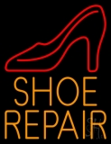 Orange Shoe Repair With Sandal LED Neon Sign