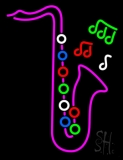 Pink Saxophone LED Neon Sign