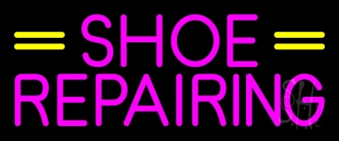 Pink Shoe Repairing Neon Sign