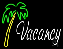 Vacancy With Tree LED Neon Sign