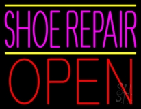 Pink Shoe Repair Open LED Neon Sign