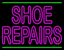 Pink Shoe Repairs With Line LED Neon Sign
