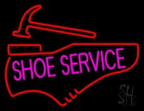 Pink Shoe Service LED Neon Sign