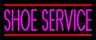 Pink Shoe Service With Line LED Neon Sign