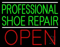 Professional Shoe Repair Open LED Neon Sign