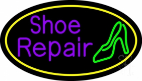 Purple Shoe Repair Sandal LED Neon Sign