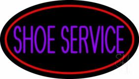 Purple Shoe Service LED Neon Sign