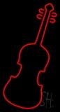 Red Violin Logo LED Neon Sign