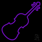 Purple Violin LED Neon Sign