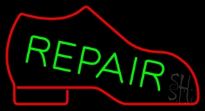 Red Boot Green Repair LED Neon Sign