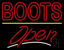 Red Boots Open LED Neon Sign