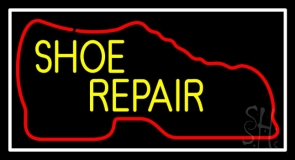 Red Boot Yellow Shoe Repair LED Neon Sign