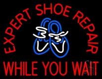 Red Expert Shoe Repair LED Neon Sign