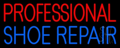 Red Professional Blue Shoe Repair LED Neon Sign