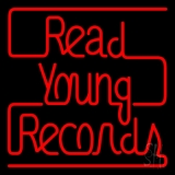Red Read Young Records LED Neon Sign