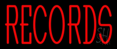 Red Records 1 LED Neon Sign