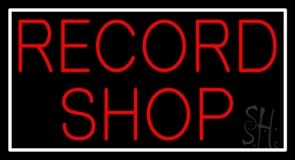 Red Record Shop LED Neon Sign