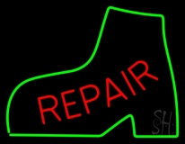 Red Repair Green Boot LED Neon Sign