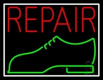 Red Repair Shoe Logo LED Neon Sign