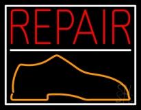 Red Repair Shoe LED Neon Sign