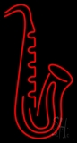 Red Saxophone 2 LED Neon Sign