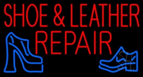Red Shoe and Leather Repair LED Neon Sign