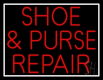 Red Shoe and Purse Repair LED Neon Sign