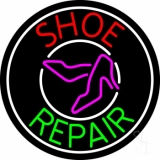 Red Shoe Green Repair With Sandals LED Neon Sign