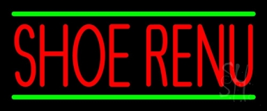 Red Shoe Renu Green Line LED Neon Sign