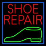 Red Shoe Repair Green Shoe LED Neon Sign