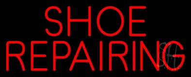 Red Shoe Repairing LED Neon Sign