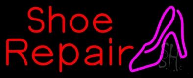 Red Shoe Repair Sandal Neon Sign