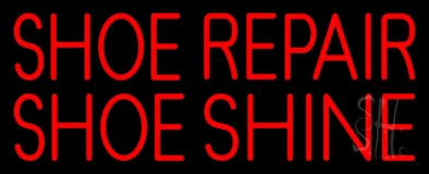 Red Shoe Repair Shoe Shine LED Neon Sign