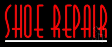 Red Shoe Repair With Line LED Neon Sign