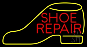 Red Shoe Repair Yellow Shoe LED Neon Sign