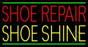 Red Shoe Repair Yellow Shoe Shine LED Neon Sign