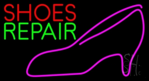 Red Shoes Green Repair Pink Sandal LED Neon Sign
