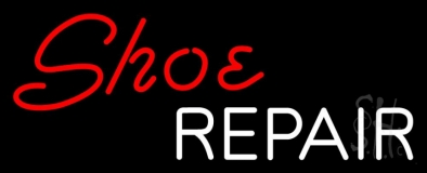 Red Shoe White Repair LED Neon Sign