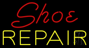 Red Shoe Yellow Repair LED Neon Sign