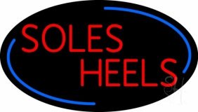 Red Soles Heels LED Neon Sign