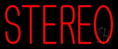 Red Stereo Block LED Neon Sign