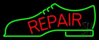 Repair Shoe Logo Neon Sign